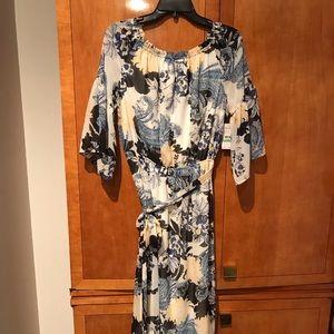 New Nine West Flowy Flower Dress